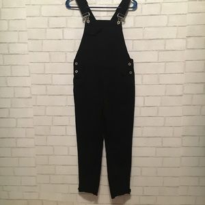 Zara black released hem overalls size XS